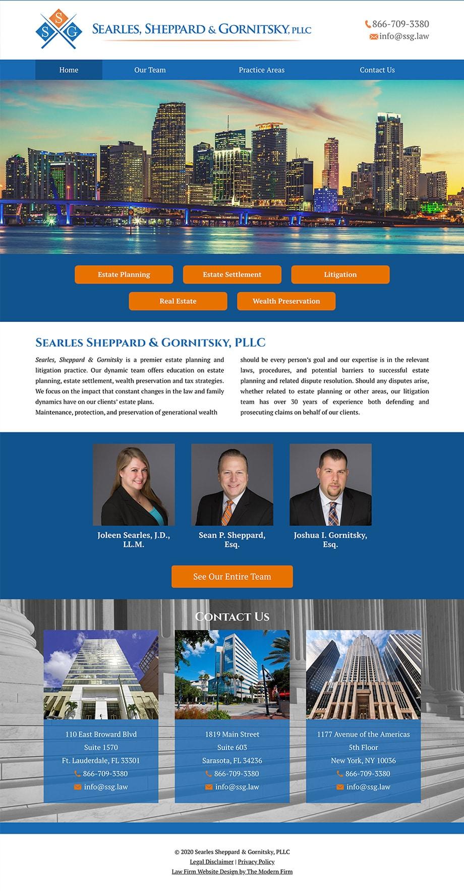Law Firm Website Design for Searles Sheppard & Gornitsky, PLLC