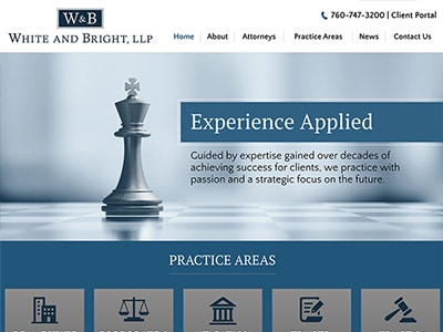 Website Design for White and Bright, LLP