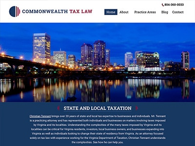 Website Design for Commonwealth Tax, LLC