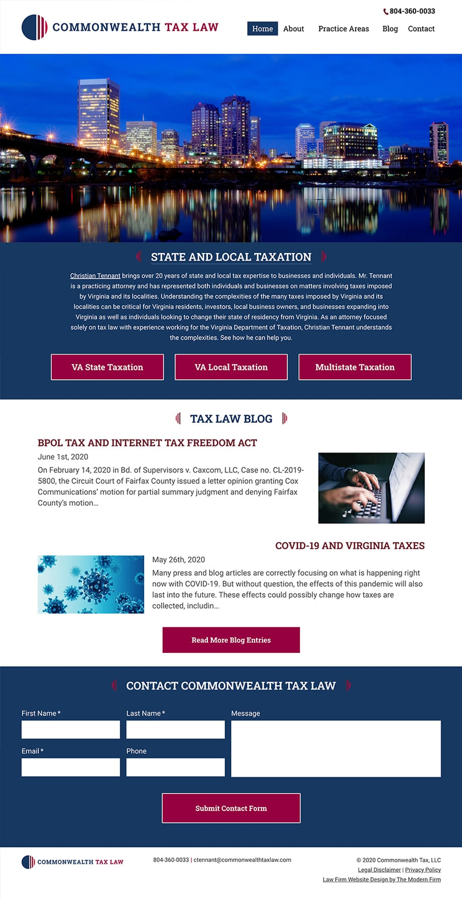 Law Firm Website Design for Commonwealth Tax, LLC