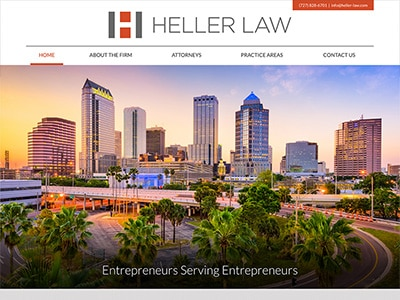 Law Firm Website design for Heller Law, PLLC