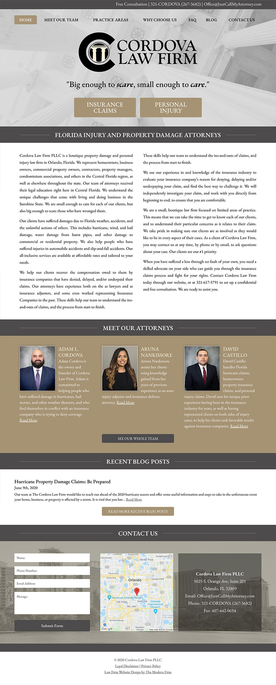 Law Firm Website Design for Cordova Law Firm PLLC