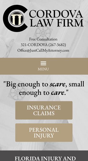 Responsive Mobile Attorney Website for Cordova Law Firm PLLC