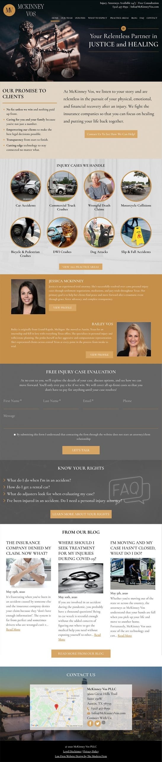 Law Firm Website for McKinney Vos PLLC