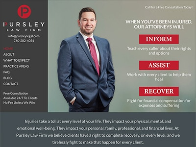 Law Firm Website design for Pursley Law Firm