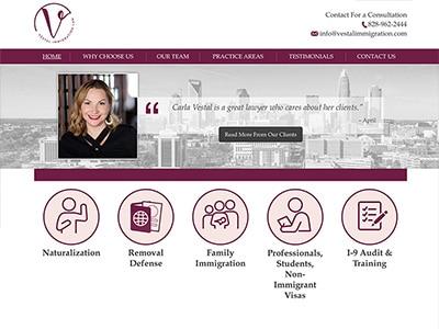 Law Firm Website design for Vestal Immigration Law