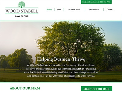 Website Design for Wood Stabell Law Group, P…