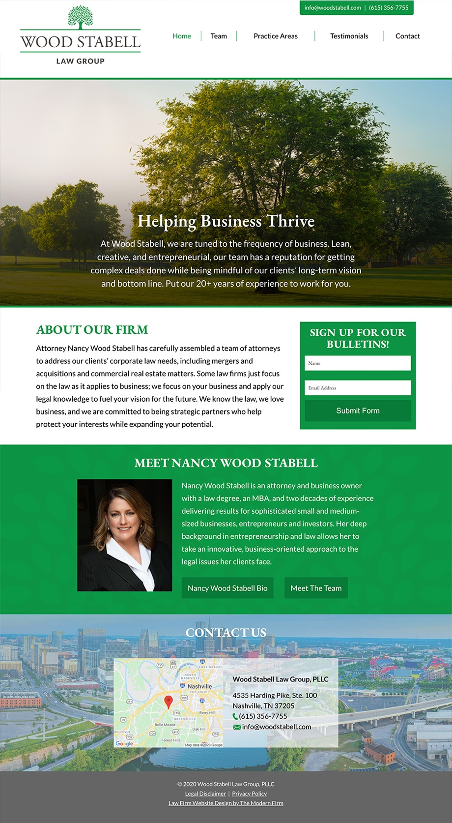 Law Firm Website Design for Wood Stabell Law Group, PLLC
