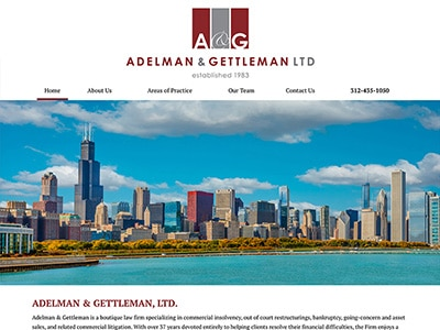Law Firm Website design for Adelman & Gettleman, Ltd.