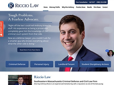 Law Firm Website design for Riccio Law