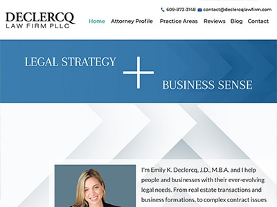 Law Firm Website design for Declercq Law Firm, PLLC