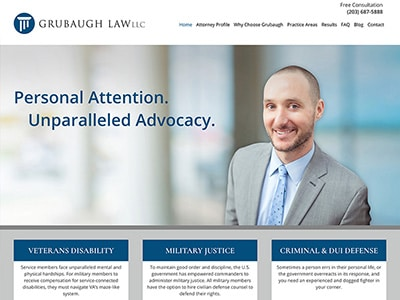 Law Firm Website design for Grubaugh Law, LLC