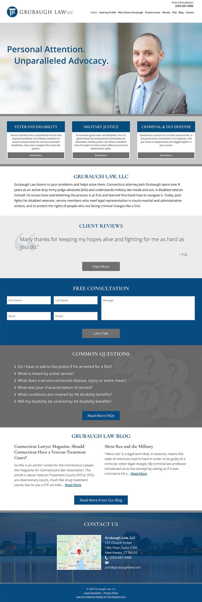 Law Firm Website Design for Grubaugh Law, LLC