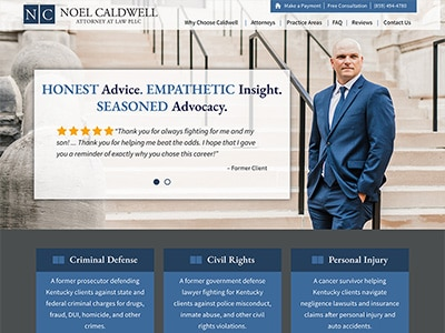 Website Design for Noel Caldwell, Attorney a…