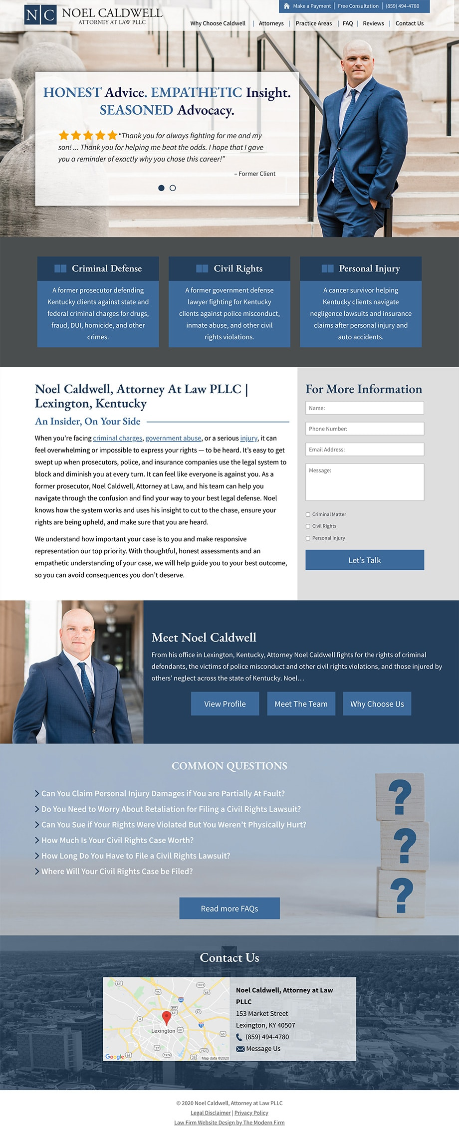 Law Firm Website Design for Noel Caldwell, Attorney at Law PLLC