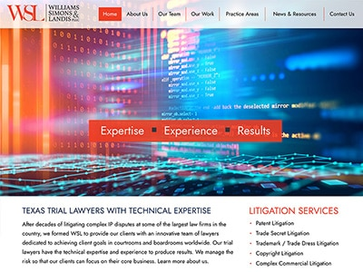 Law Firm Website design for Williams Simons & Landis…