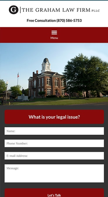 Responsive Mobile Attorney Website for The Graham Law Firm PLLC
