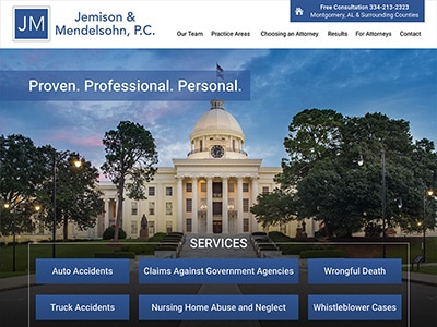 Law Firm Website design for Jemison & Mendelsohn
