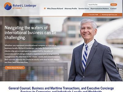 Law Firm Website design for Richard Lionberger, Attor…