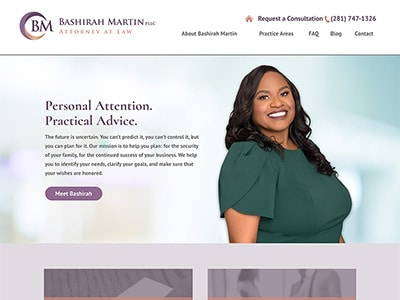 Law Firm Website design for Bashirah Martin, Attorney…