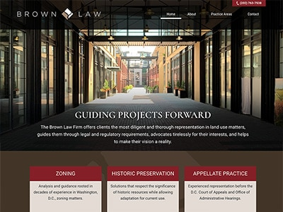 Law Firm Website design for The Brown Law Firm PLLC