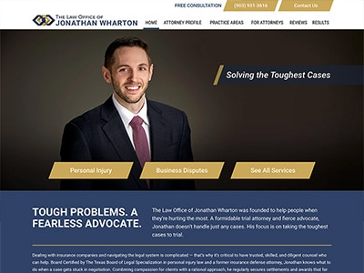 Law Firm Website design for The Law Office of Jonatha…