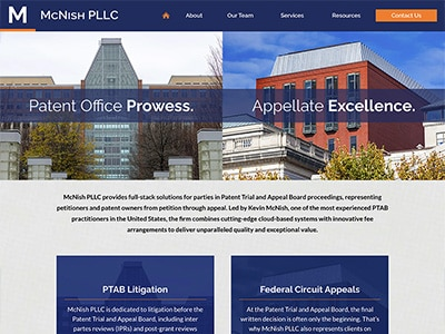 Law Firm Website design for McNish PLLC