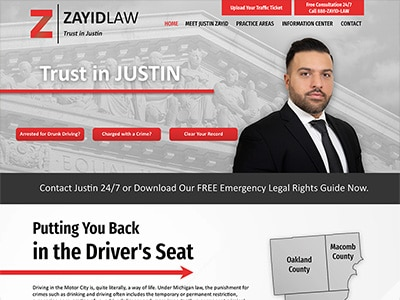 Law Firm Website design for Zayid Law P.C.