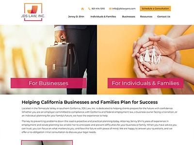 Law Firm Website design for JDS Law, Inc.
