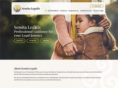 Law Firm Website design for Semita Legalis, LLC
