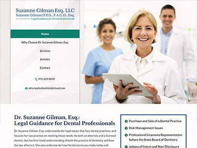 Law Firm Website design for Suzanne Gilman Esq. LLC