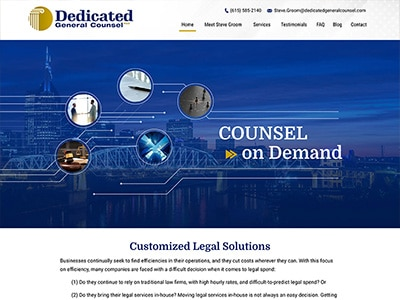 Law Firm Website design for Dedicated General Counsel…