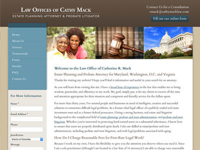 Maryland Law Firm Website Design