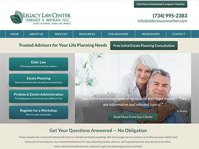 Michigan Law Firm Website Design