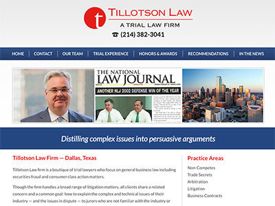 Dallas TX Law Firm Website Design