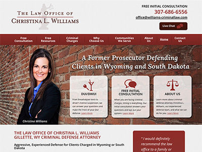WY Law Firm Website Design