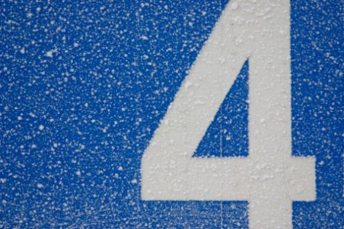 Snow-covered four
