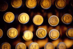 Antique Typewriter Keys
